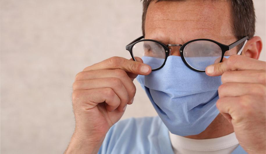 چگونه ماسک بزنیم که عینکمان بخار نگیرد؟
