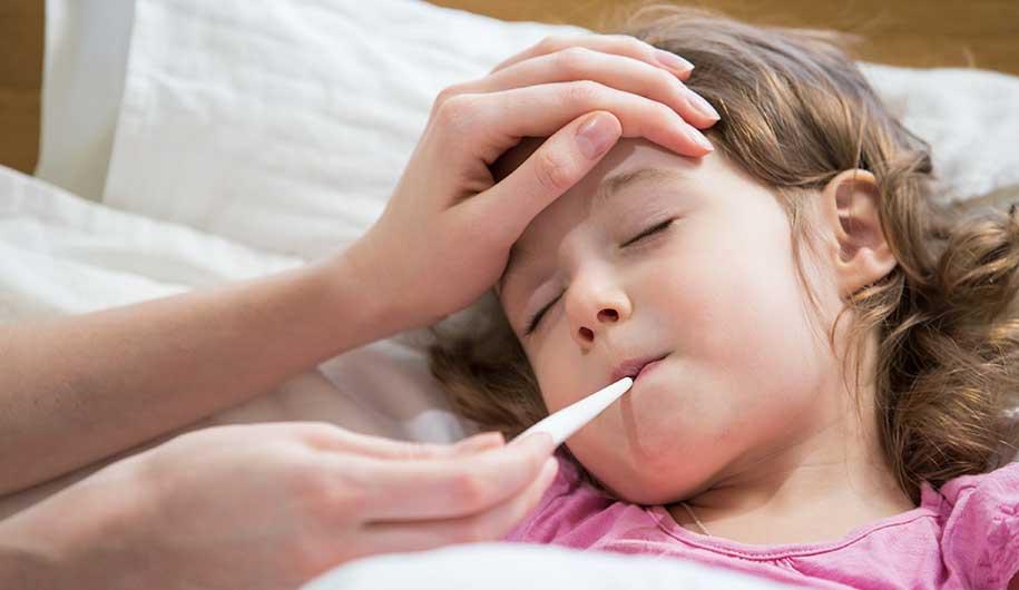 کنترل تب و سرماخوردگی در کودکان